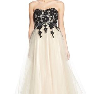 Niki Overlay Lace Sweetheart Floral Formal Gown